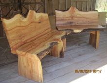 Cedar Bench Pair