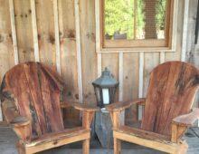 Old Oak Adirondack Chair