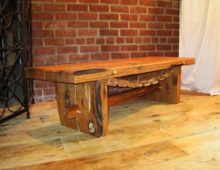 Old Oak Bench with Chain