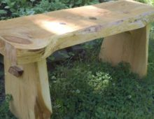 Small Pine Bench with Large Knots