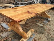 Red Pine Dining Table