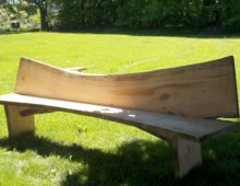 Spruce Bench with Back