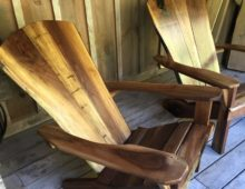Walnut Adirondack Chairs