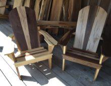 Black Walnut/ Soft Maple Adirondack Chairs